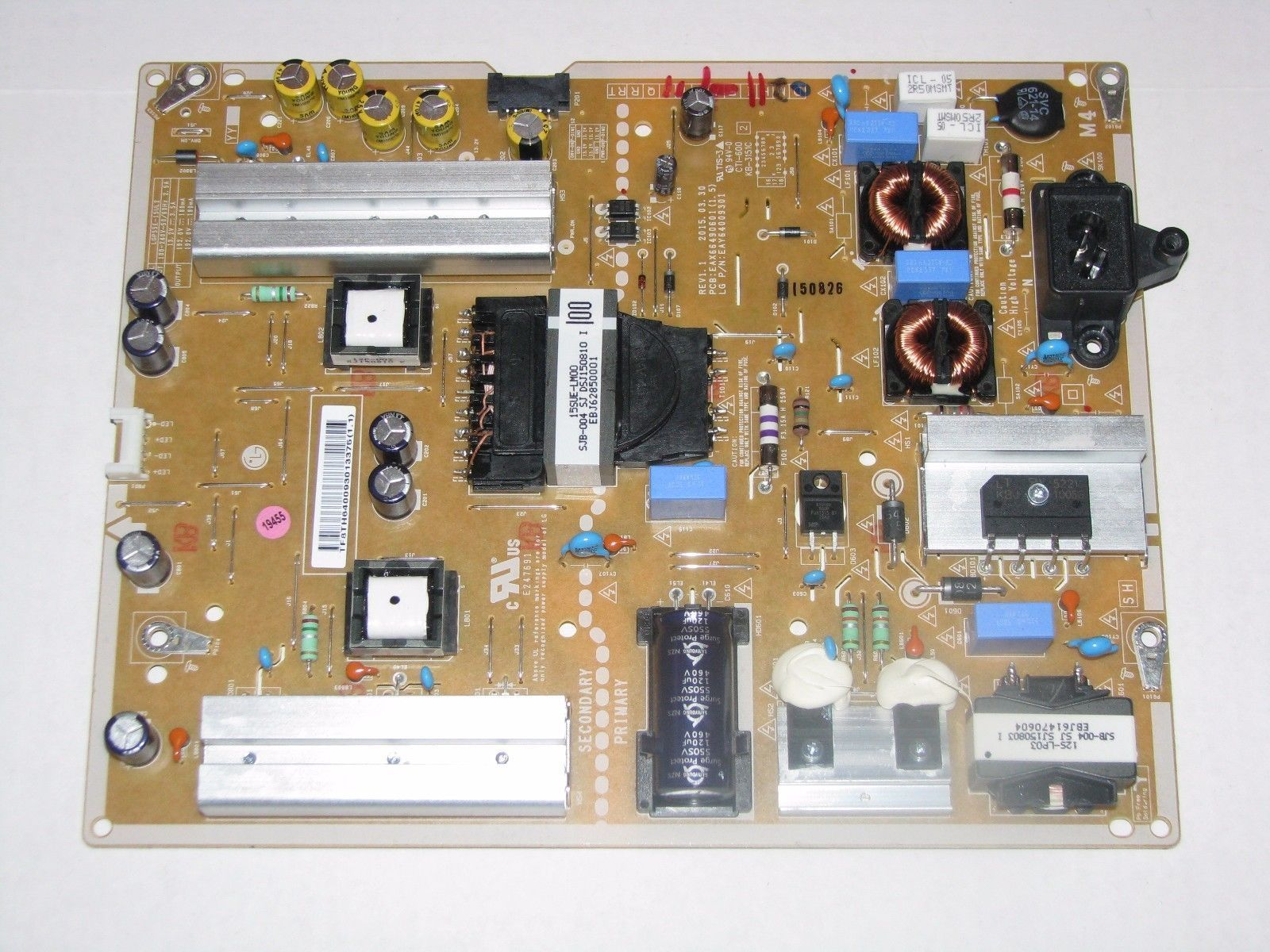 LG 55UF6430 55UF6800 Power Supply EAY64009301