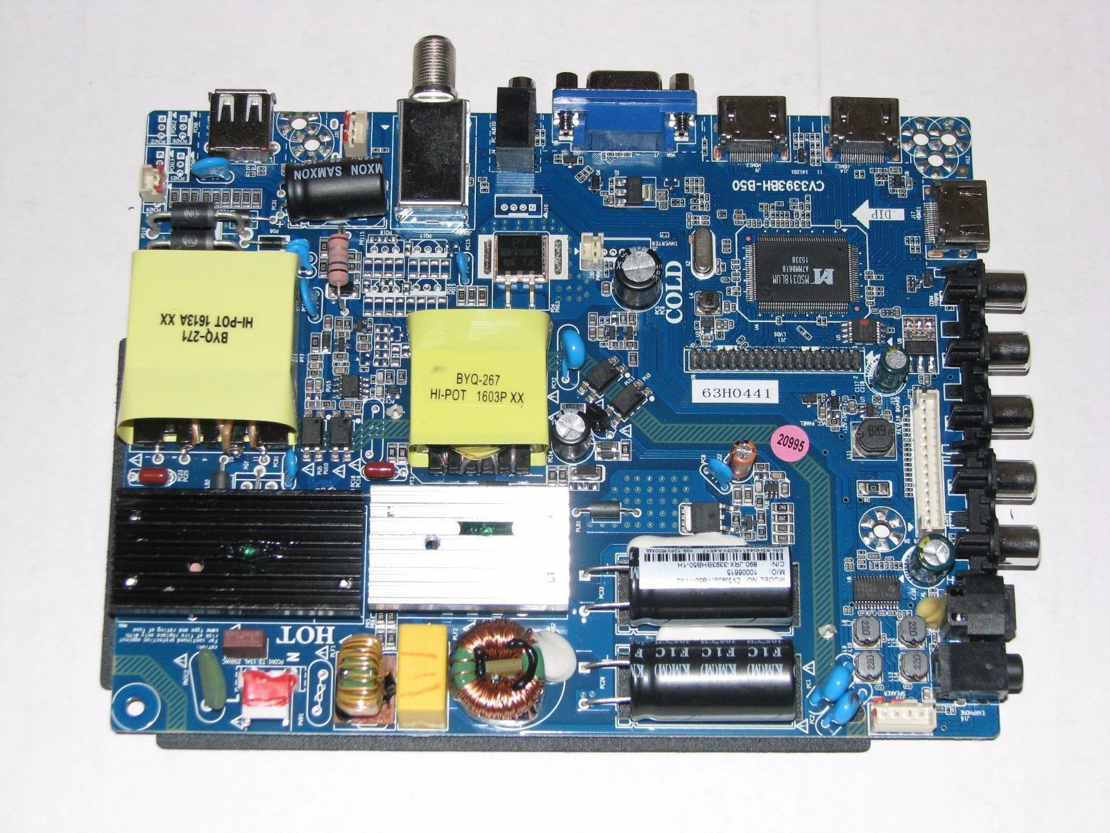 Sansui SLED5515W Main Board CV3393BH B50 11 X3