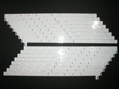 TCL 55R617 LED Strip Set (8) TCL GIC 55V6 L 12ea 3030 LX20171110 (8) R 12ea 3030
