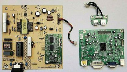 HP LA2206X Board Set Main GQACB HP02100 Power A3302QBG and USB Board